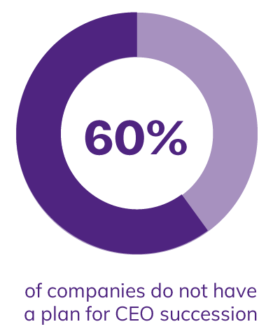 60% of companies do not have a plan for CEO succession